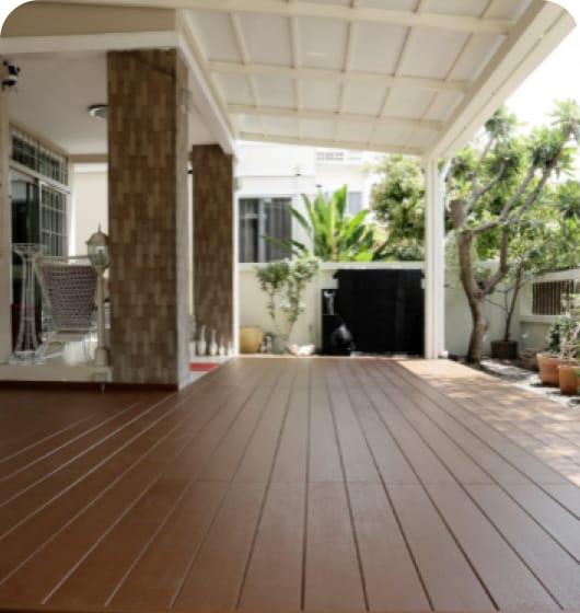 ไม้พื้นเฌอร่าสีสำเร็จ รุ่นคัลเลอร์ทรู