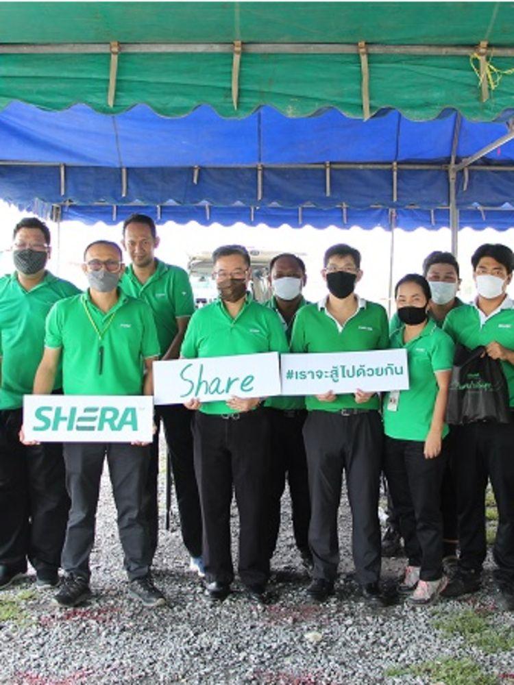 SHERA Share เฌอร่าปันสุข ลงพื้นที่แจกถุงยังชีพช่วยเหลือพี่น้องประชาชนชุมชนไร่ขิง