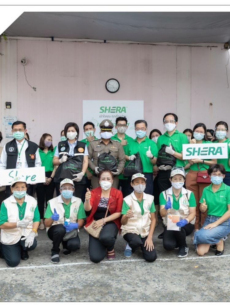 SHERA Share เฌอร่าปันสุข ลงพื้นที่แจกถุงยังชีพช่วยเหลือพี่น้องประชาชนชุมชนสนามแดง